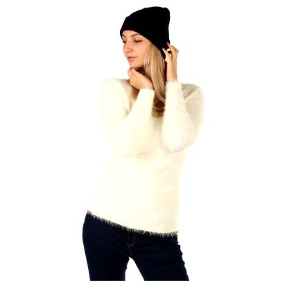 Jednoduchá pletená čepice černá