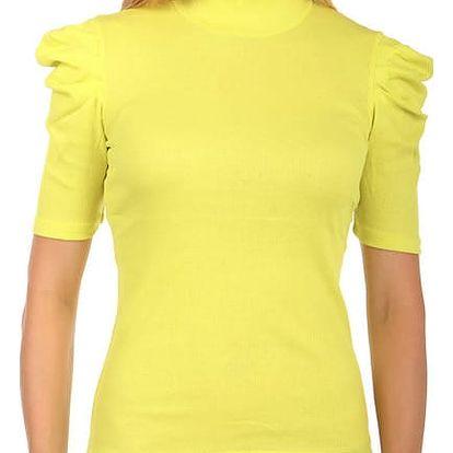 Dámské elegantní tričko s rolákem žlutá