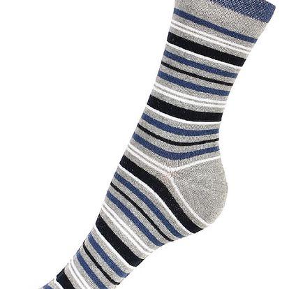 Proužkované ponožky světle šedá