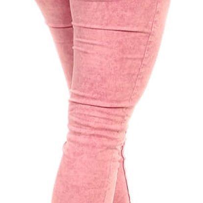 Barevné kalhoty s nízkým pasem II.jakost modrá