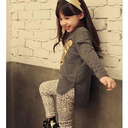 Dětský šedý set oblečení, velikost 100 - VÝPRODEJ