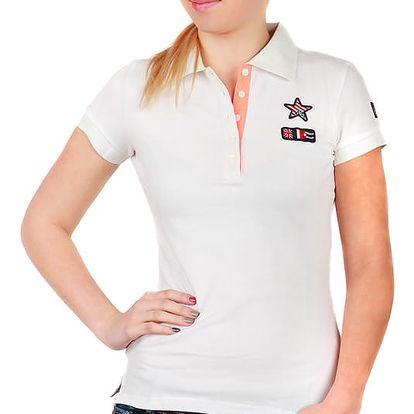 Dámské triko s límečkem bílá