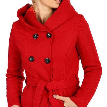 Stylový kabátek s kapucí a s jemným hadím vzorem šedá