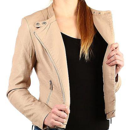 Krátká koženková bunda černá
