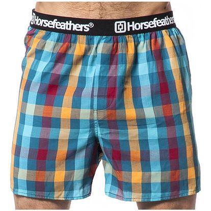 Pánské Trenky Horsefeathers Apollo Boxer Shorts Petrol L