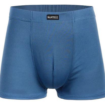 Bambusové boxerky modrá