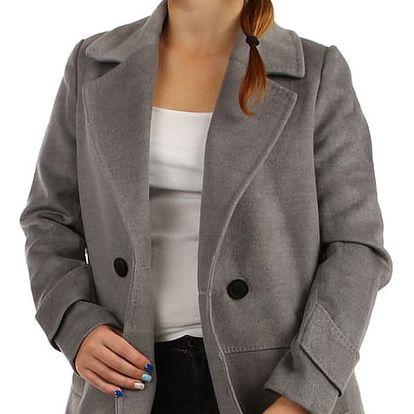 Oversized kabátek na knoflík tmavě modrá