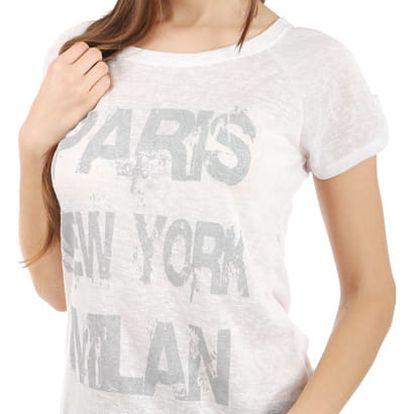 Moderní tričko s potiskem šedá