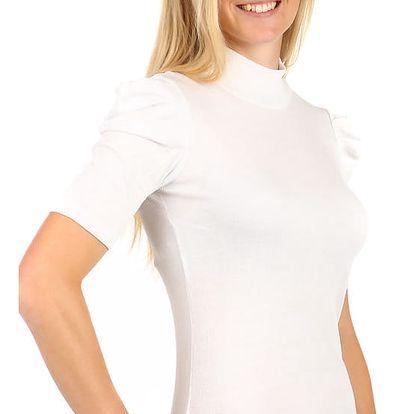 Dámské elegantní tričko s rolákem bílá