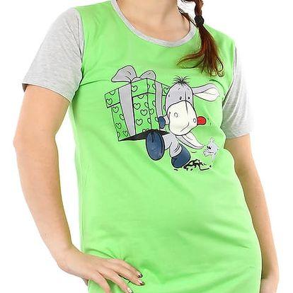 Bavlněná noční košile s potiskem zelená