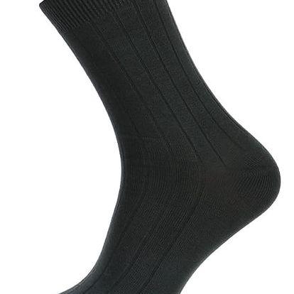 Pánské ponožky s pruhy tmavě šedá