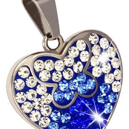 Srdce s barevnými kamínky