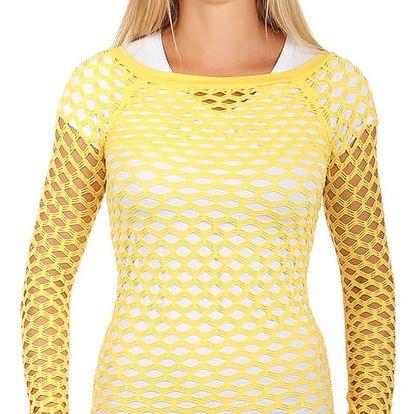 Úžasné tričko z velkých oček žlutá