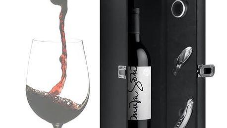 Dárkový Box na Víno s Doplňky Summum Sommelier 4 díly