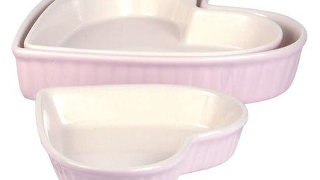 IB LAURSEN Zapékací mísy Heart Mynte pink Velikost L, růžová barva, keramika