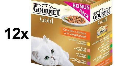 Konzerva Gourmet Gold kousky se zeleninou ve šťávě Exotic Multipack 12 x (8 x 85g) + Doprava zdarma