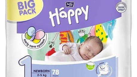 Plenky Bella Baby Happy New Born Big Pack 78 ks Osvěžující vlhčené ubrousky Bella Bohemia (zdarma)