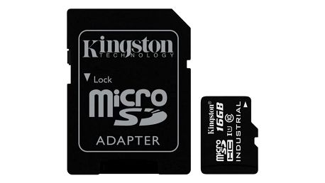 Kingston Industrial Micro SDHC 16GB Class 10 UHS-I + SD adaptér - SDCIT/16GB