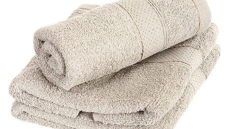 Froté ručník se vzorem Menheten šedá