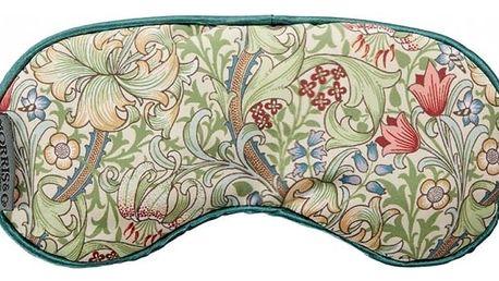 MORRIS & Co. Maska na oči s levandulí Golden Lily, zelená barva, žlutá barva, papír, textil