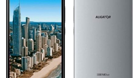 Mobilní telefon Aligator S5510 Dual SIM (AS5510GY) šedý