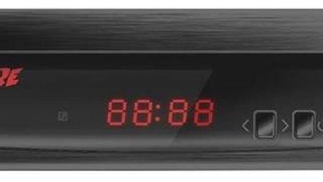 DVB-T přijímač Zircon FIRE s DVB-T2 s HEVC (H.265) černý