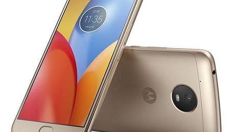 Mobilní telefon Motorola Moto E Plus Dual SIM (PA700044CZ) zlatý