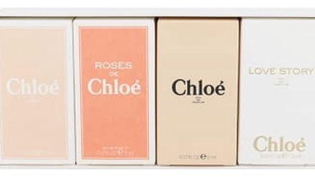 Chloe Mini Set 1 dárková kazeta pro ženy parfémovaná voda Chloe 5 ml + toaletní voda Chloe (2015) 5 ml + toaletní voda Roses de Chloe 5 ml + parfémovaná voda Love Story 7,5 ml