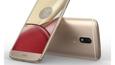 Mobilní telefon Motorola Moto M Dual SIM (PA5D0077CZ) zlatý + DOPRAVA ZDARMA