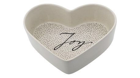 Bloomingville Keramická miska ve tvaru srdce Snow, černá barva, krémová barva, keramika