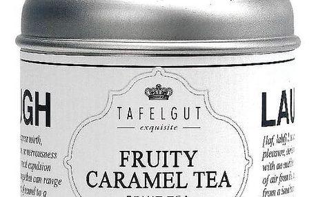 TAFELGUT Ovocný čaj Fruity caramel tea - 130gr, černá barva, bílá barva