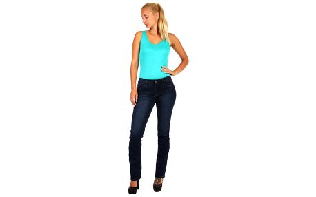 Tmavě modré rovné džíny