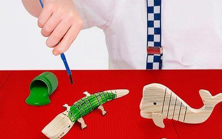 Dřevěné 3D Zvířátko na Malování 5 kusů