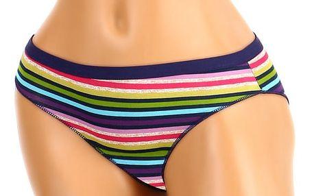 Bavlněné proužkované kalhotky tmavě fialová