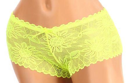 Celokrajkové kalhotky - boxerky žlutá
