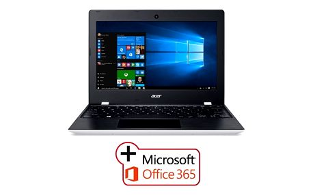 "Acer Aspire One 11 (AO1-132-C3WT) Celeron N3060/2GB+N/A/eMMC 32GB+N/A/HD Graphics/11.6"" HD matný/BT/W10 Home/Cloud White"