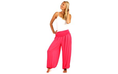 Harémové kalhoty růžová