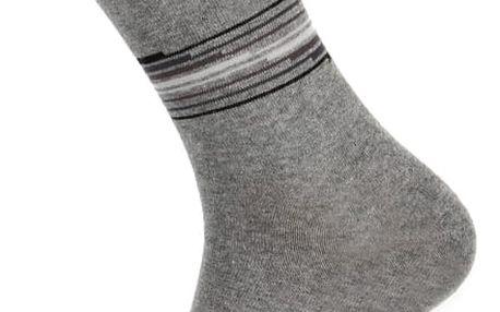 Pánské ponožky s proužkou světle šedá