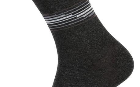 Pánské ponožky s proužkou černá