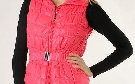 Dámská sportovní vesta růžová