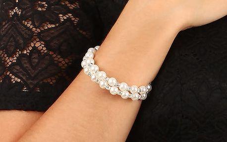 Kroucený perlový náramek