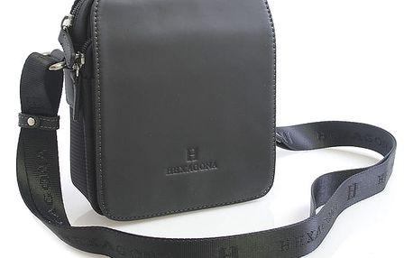Černá kožená dokladovka přes rameno Hexagona 299176 černá