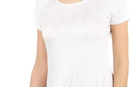 Dámské asymetrické tričko bílá