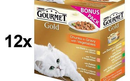 Gourmet Gold kousky se zeleninou ve šťávě Exotic Multipack 12 x (8 x 85g)