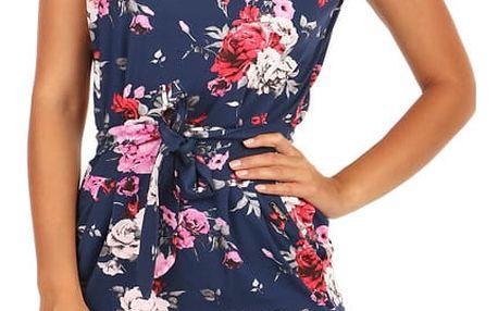 Bavlněné šaty s kapsami a květinovým potiskem