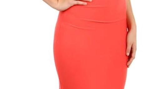 Krásné dlouhé společenské šaty lososová