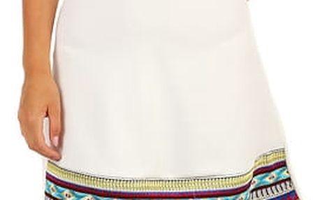 Dámské šaty za krk s holými zády II.jakost bílá