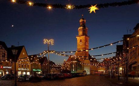 Advent v německém městě Lauf a Norimberk: hrady a vánončí trhy