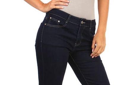 Tmavé džíny rovného střihu - i pro plnoštíhlé