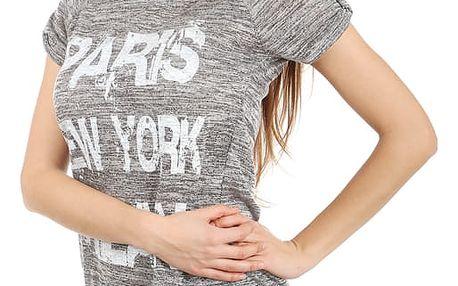 Moderní tričko s potiskem černá